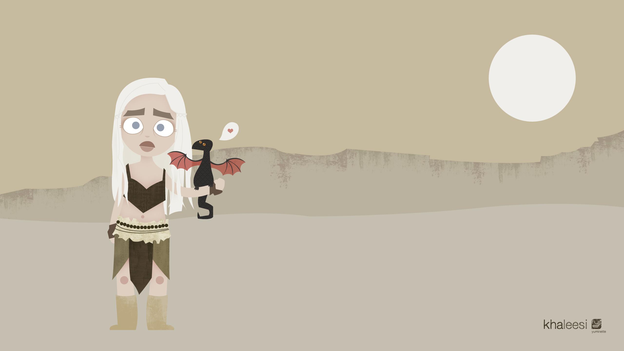 fond d'écran khaleesi 2560*1440