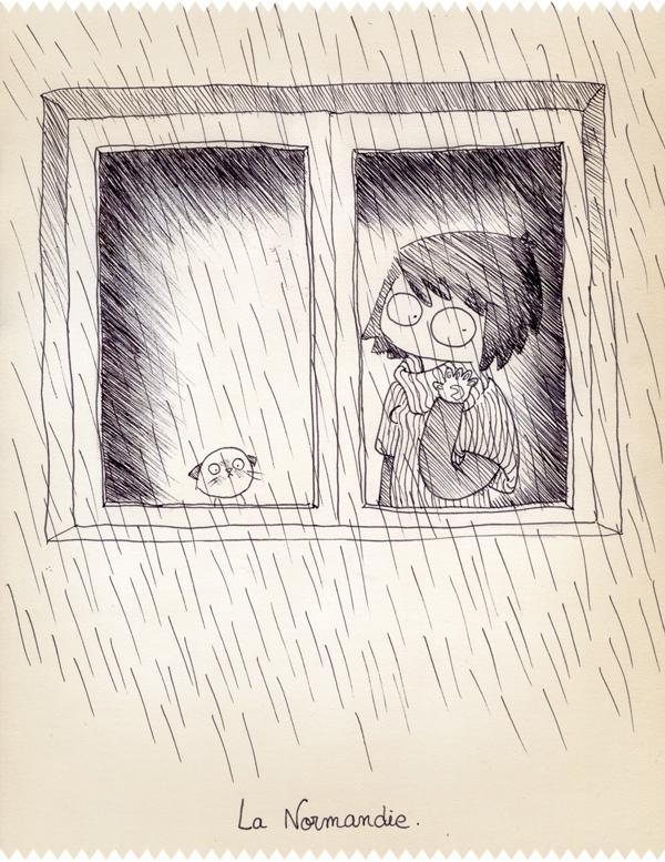 La pluie de Normandie