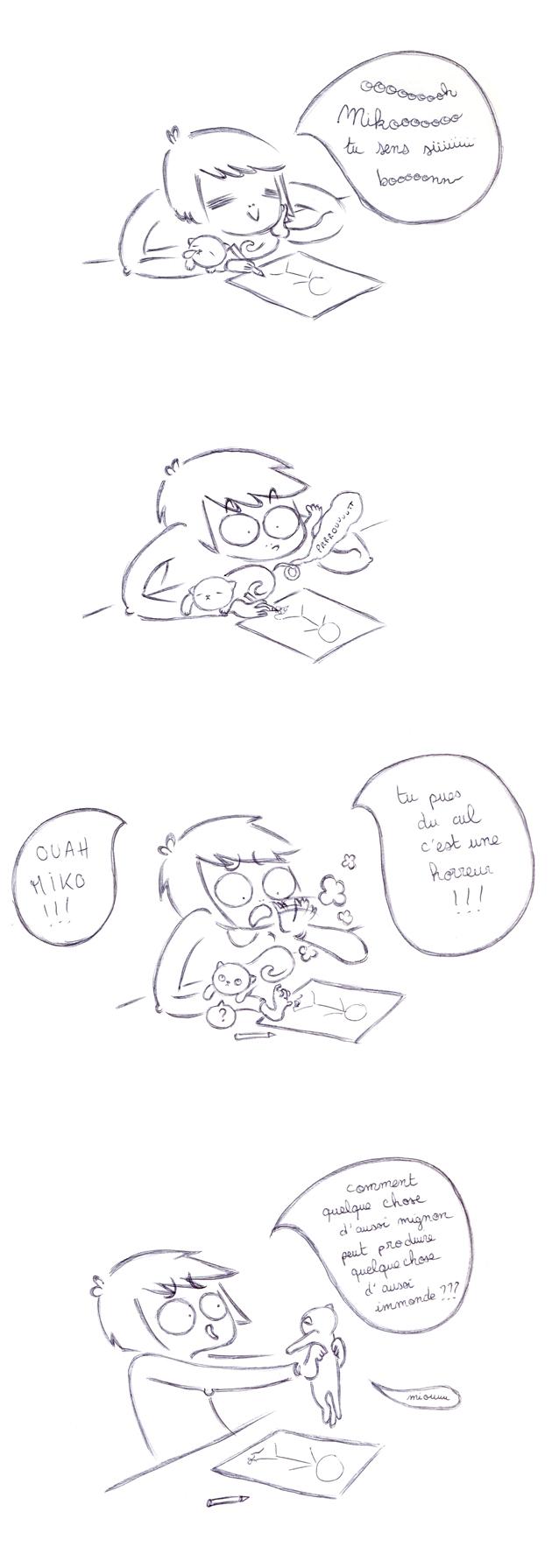 Miko fait des prouts