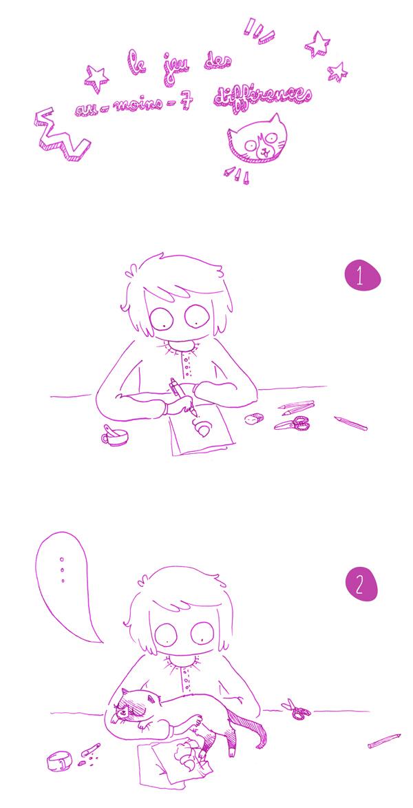 jeu des 7 différences avec miko