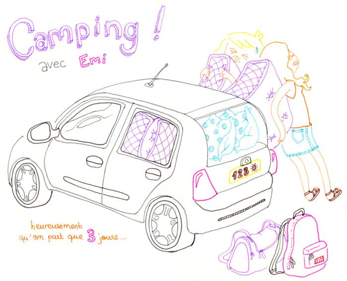 clio avec matelas pour camping