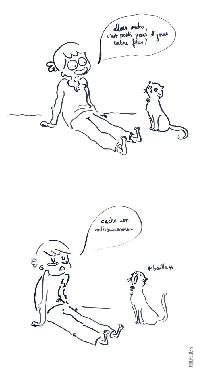 entre filles - les chats c'est rabat joie