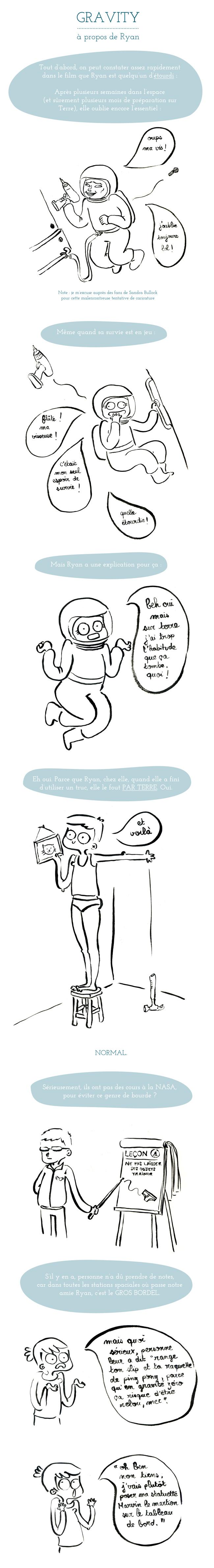 Gravity - A propos de Ryan - étourdie